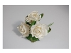 Click here for larger picture - Tea Roses X3 White  £1.79