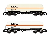 "Renfe 2 Unit Pack 4-axle Gas Tank Wagon Type Zags ""IVEXA"" Period V-VI (HE6002) £54.99 Added to website on 19/02/2020 00:36:53"