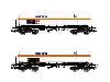 "Renfe 2 Unit Pack 4-axle Gas Tank Wagon Type Zags ""Saltra"" Period V-VI (HE6003) £54.99 Added to website on 19/02/2020 00:39:56"